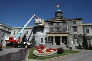 The cleaning of the Arts building will be completed by July 17. / Photo: Owen Egan