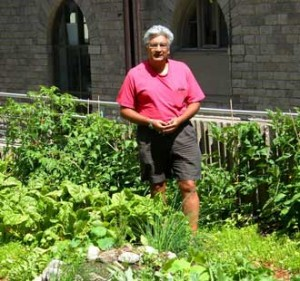 """I'm not growing any food in my garden at home just now,"" said Viram Bhatt, ""but I have a good herb garden."" / Photo: Neale McDevitt"