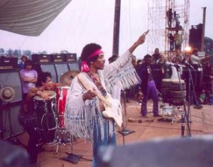 Jimi Hendrix closes Woodstock back in 1969. / Photo courtesy of Woodstock Wiki.