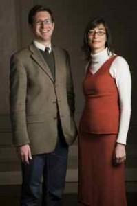 Award-winning Law profs Robert Leckey and Lara Khoury. / Photo: Claudio Calligaris