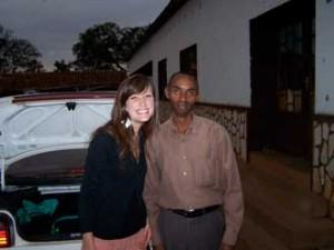 Jeannine Plamondon and Celestin, a Rwandan survivor. Photo courtesy of Jeannine Plamondon